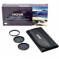 Hoya 67mm Digital Filter Kit: UV(C) + CPL + NDx8 + Pouch