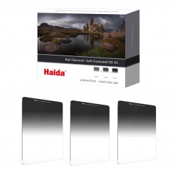 Haida Red Diamond Soft Graduated ND Filters Kit 100x150mm (ND 0.6 / 0.9 / 1.2)