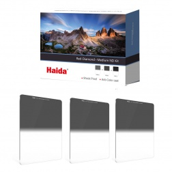 Haida Red Diamond Medium Graduated ND Filters Kit 100x150mm (ND 0.6 / 0.9 / 1.2)