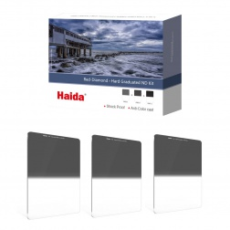 Haida Red Diamond Hard Graduated ND Filters Kit 100x150mm (ND 0.6 / 0.9 / 1.2)