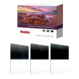 Haida Red Diamond Reverse Graduated ND Filters Kit 100x150mm (ND 0.6 / 0.9 / 1.2)